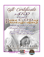 GIFT CERTIFICATE $100 - 8x10